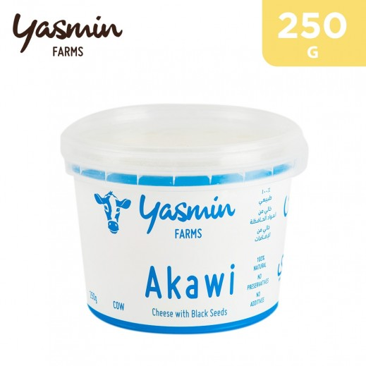 Yasmin Farms Akawi Cow Cheese w/ Blackseeds 250 g