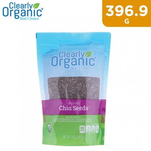 Clearly Organic Chia Seeds Bag 396.9 g