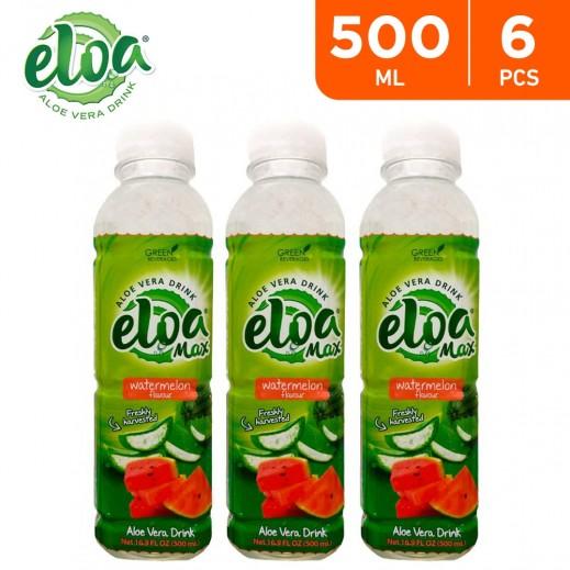Eloa Max Aloe Vera Drink Watermelon Flavor (6 x 500 ml)
