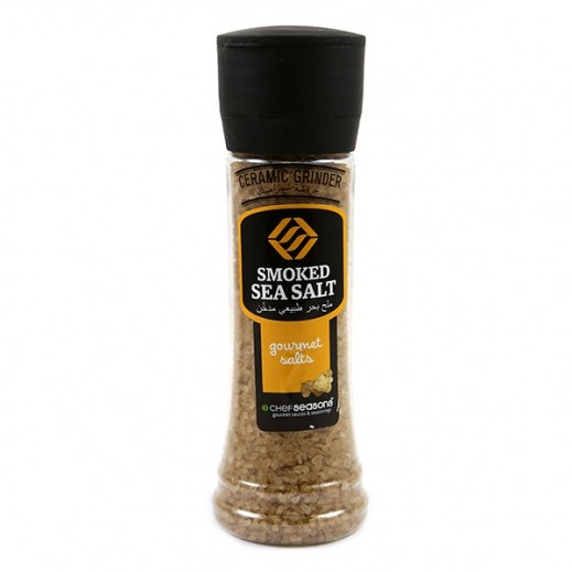 Chef Seasons Smoked Sea Salt with Ceramic Grinder 350 g