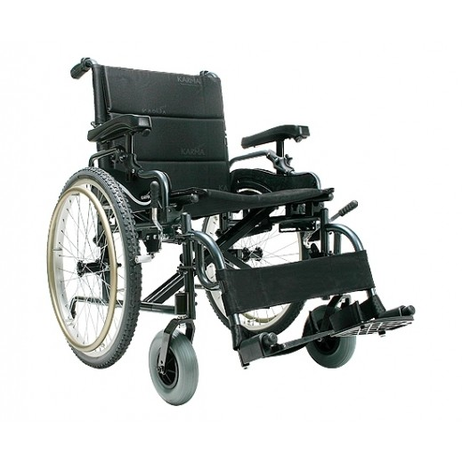 Karma Manual Light Weight Heavy Duty Wheelchair 150 Kg Capacity - delivered by Al Essa After 2 working Days