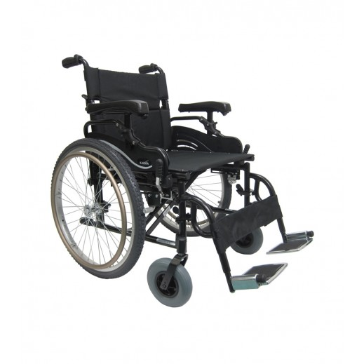 Karma Manual Light Weight Heavy Duty Wheelchair 150 Kg Capacity - Black - delivered by Al Essa After 2 working Days