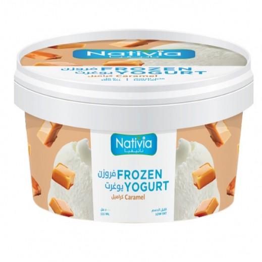 Nativia Low Fat Caramel Frozen Yogurt 500 ml