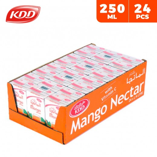 KDD Mango Nectar Juice Carton 24 x 250 ml