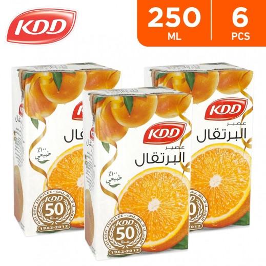 KDD Orange Juice 6 x 250 ml