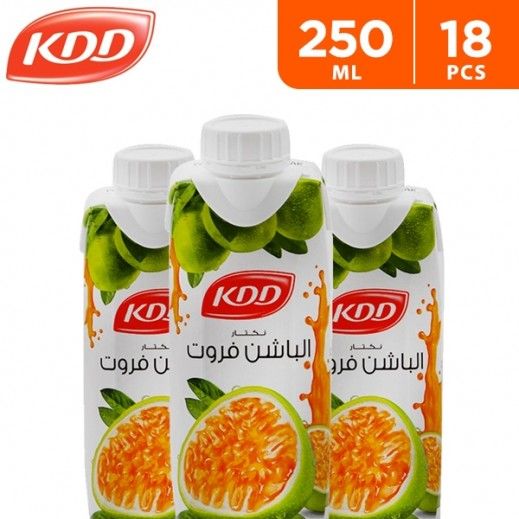 KDD Passion Fruit Juice 18 x 250 ml