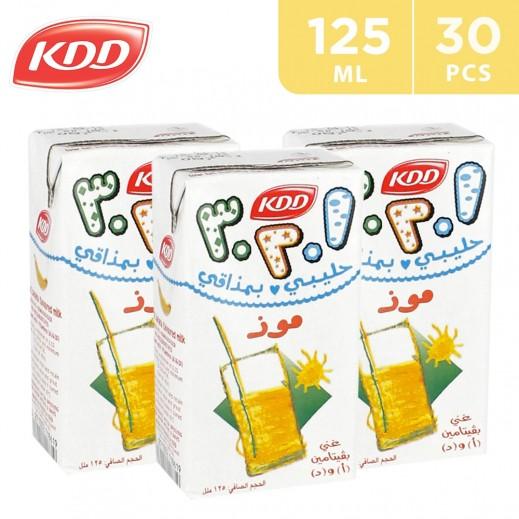 KDD Banana Flavoured Milk Carton 30x125 ml