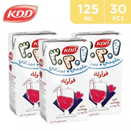 KDD Strawberry Milk Carton 30x125 ml