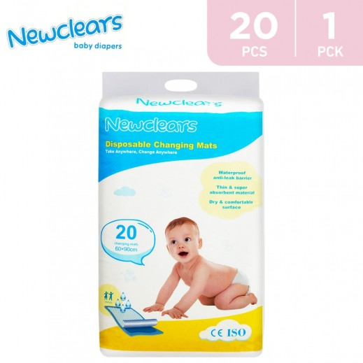 Newclears Disposable Changing Mats 60 x 90 cm 20 Mats