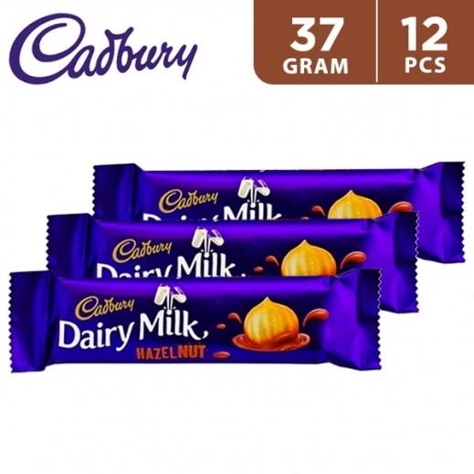 Cadbury Dairy Milk Hazelnuts Chocolate 12 x 37 g