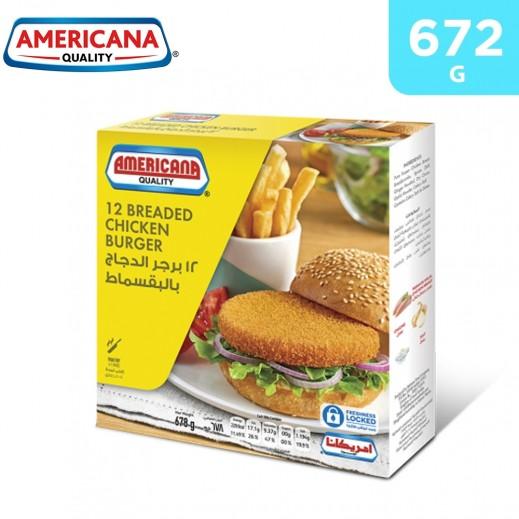 Americana Breaded Chicken Burger 12s 672 g
