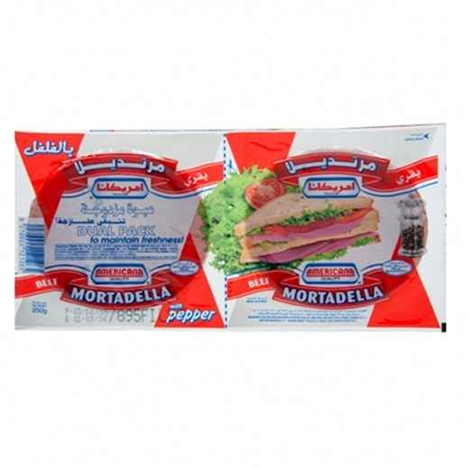 Americana Beef Mortadella With Black Seeds 250 g