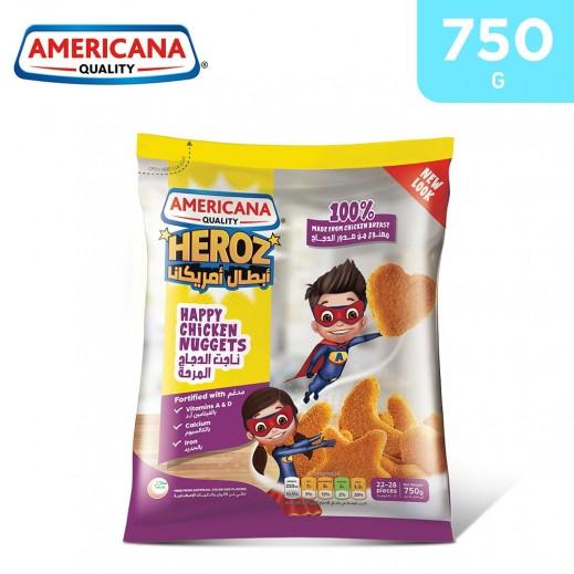 Americana Heroz Happy Chicken Nuggets 750 g