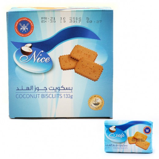 KFM Nice Coconut Biscuits 133 g (12 Pieces)