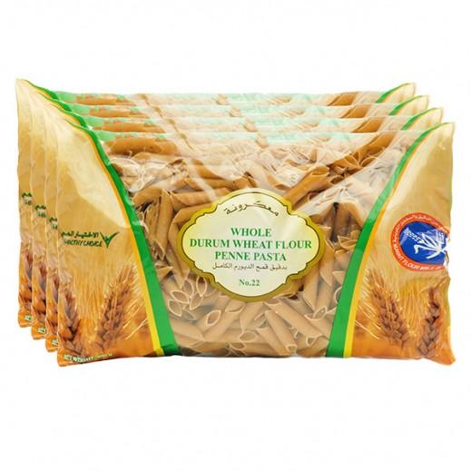KFM Whole Durum Wheat Flour Penne Pasta No 22 400 g (4 Pieces)