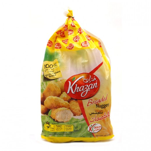 Khazan Frozen Breaded Chicken Nuggets Bag 1 kg