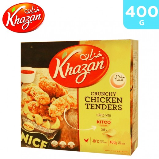 Khazan Frozen Crunchy Chicken Tenders Coated with Kitco Chips 400 g