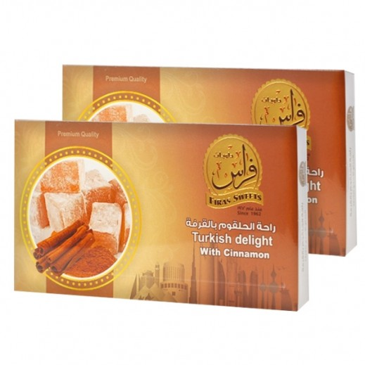 Kishawi Firas Sweets Turkish Delight with Cinnamon 2 x 400 g