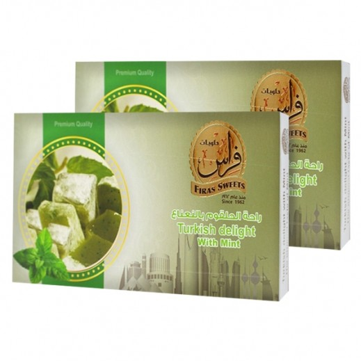 Kishawi Firas Sweets Turkish Delight with Mint 2 x 400 g