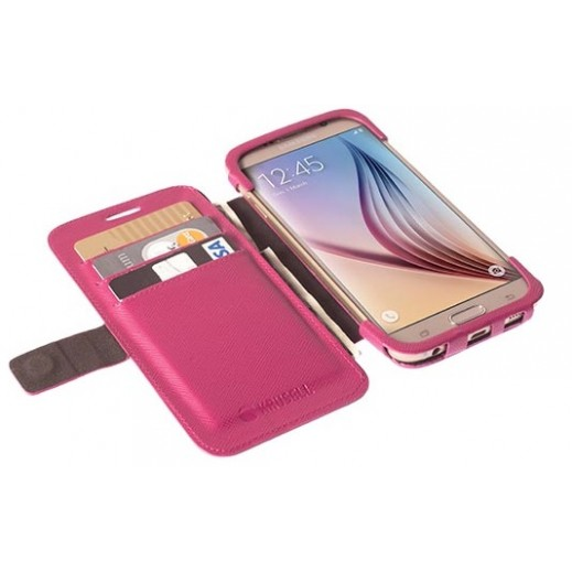 Krusell Malmo Flip Wallet For Samsung Galaxy S6 / S6 Edge Pink