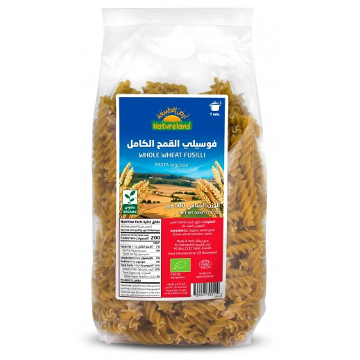 Natureland Organic Pasta Whole Wheat Fusilli 500 g