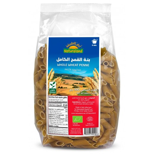 Natureland Whole Wheat Penne 500 g
