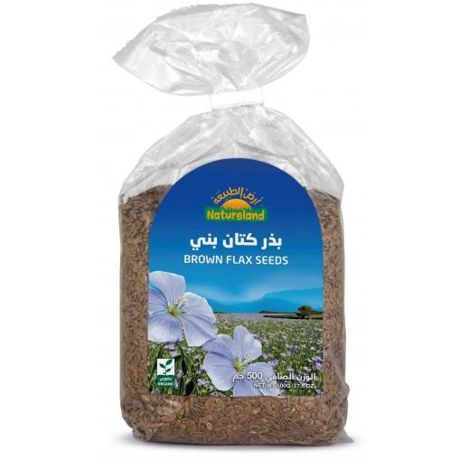 Natureland Brown Flax Seeds 500 g