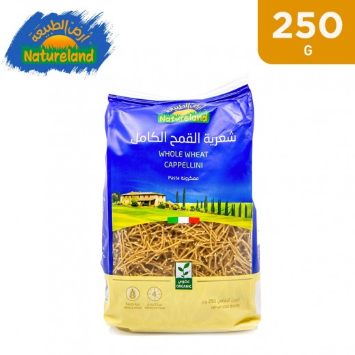 Natureland Organic Whole Wheat Cappellini Pasta 250 g