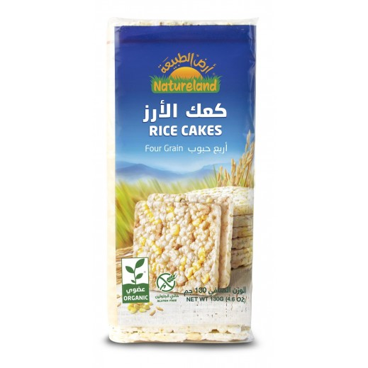 Natureland Four Grain Rice Cake 130 g