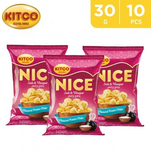 Kitco Nice Chips Salt Vinegar 30 g (10 Pieces)