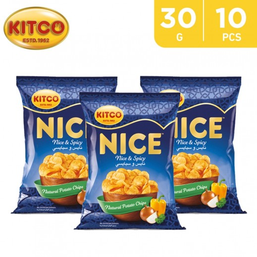 Kitco Nice Spicy Chips 30 g (10 Pieces)
