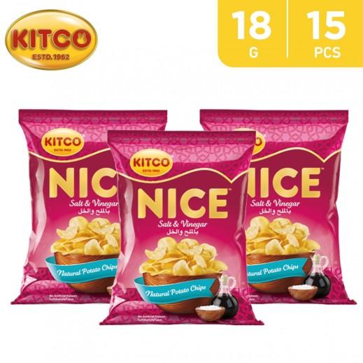 Kitco Nice Chips Salt Vinegar 18 g (15 Pieces)