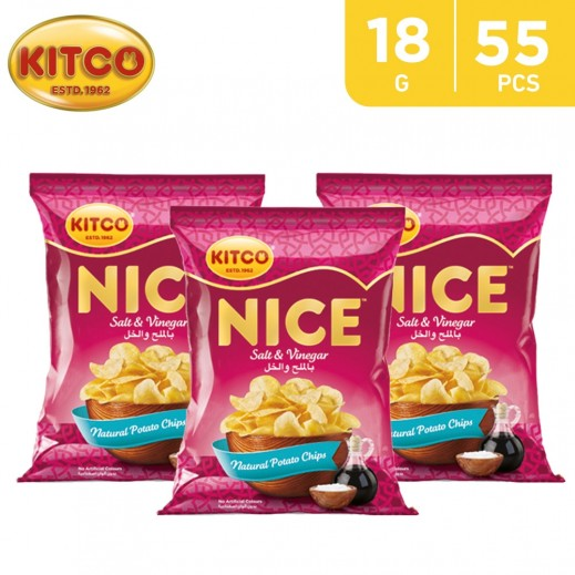 Kitco Nice Chips Salt Vinegar 55 x 18 g