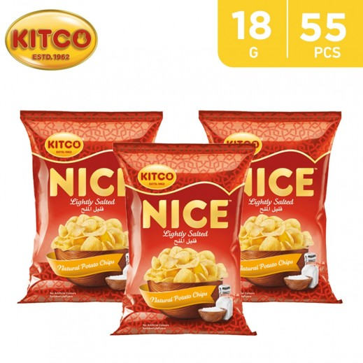 Kitco Nice Chips Lightly Salted 55 x 18 g