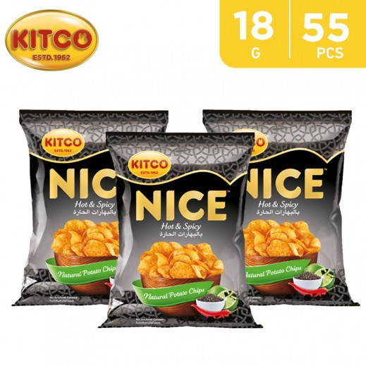 Kitco Nice Chips Hot Spicy 55 x 18 g
