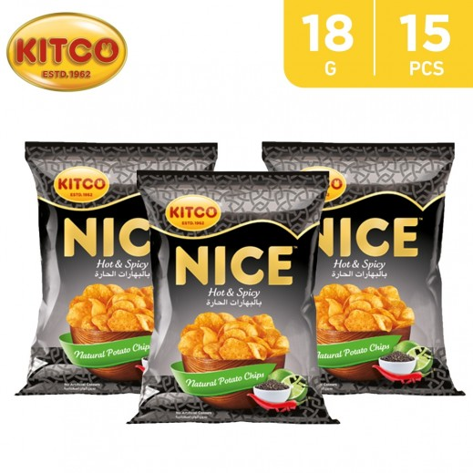 Kitco Nice Chips Hot Spicy 18 g (15 Pieces)