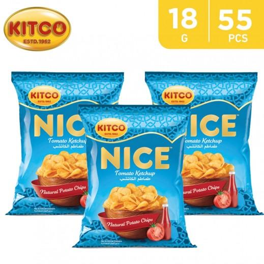 Kitco Nice Chips Tomato Ketchup 55 x 18 g