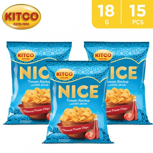Kitco Nice Chips Tomato Ketchup 18 g (15 Pieces)