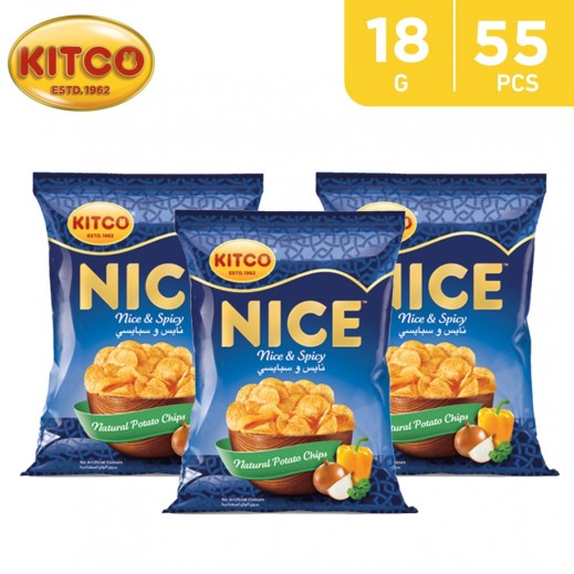 Kitco Nice Spicy Chips 55 x 18 g