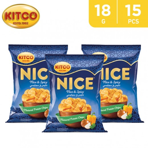 Kitco Nice Spicy Chips 18 g (15 Pieces)