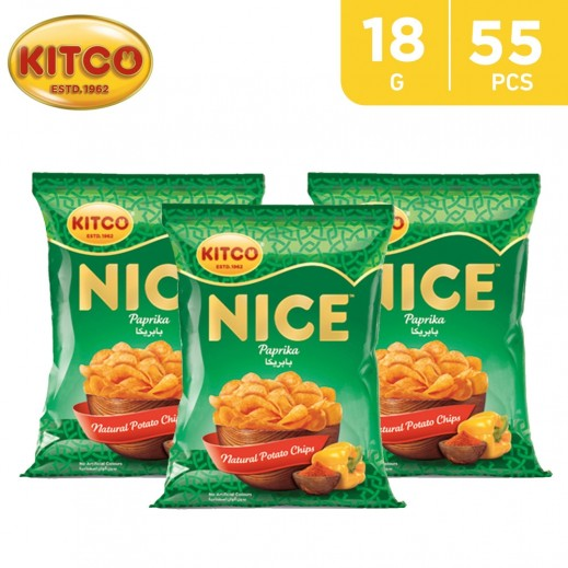 Kitco Nice Chips Paprika 55 x 18 g