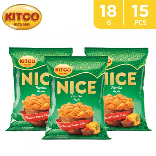 Kitco Nice Chips Paprika 18 g (15 Pieces)
