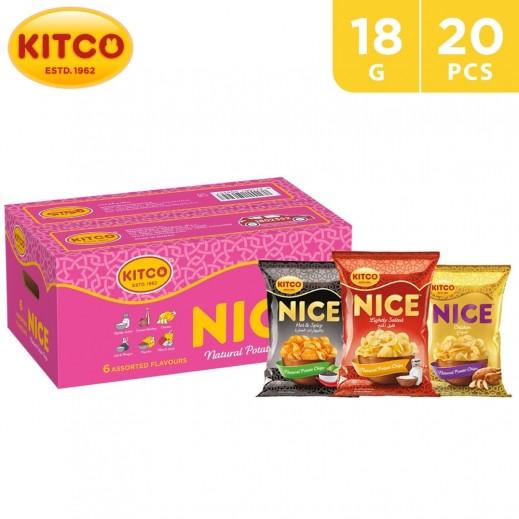 Kitco Nice Chips Assorted Box 20 x 18 g