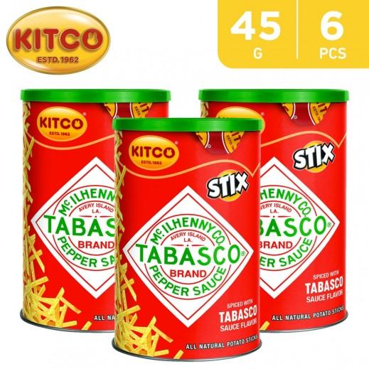 Kitco Tabasco Pepper Sauce Potato Stix 6 x 45 g