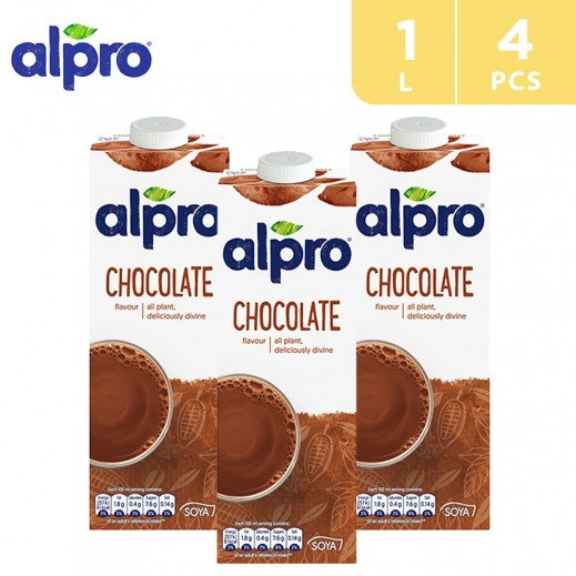 Alpro Soya Chocolate 1 L (4 Pieces)