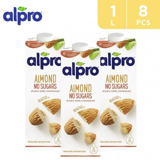 Alpro Almond Unsweetend Drink 8 x 1 L