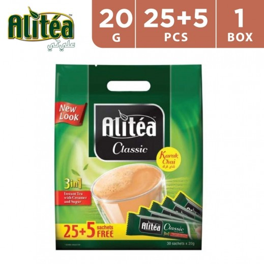 Alitea 3 In 1 Instant Tea Classic Karak Chai 20 g (25 + 5 Free)