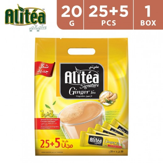 Ali Tea 3 In 1 Classic Ginger Tea 20 g (25+5 Free)
