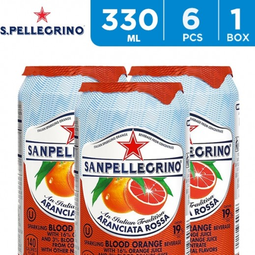 San Pellegrino Sparkling Aranciata Rossa Juice 6 x 330 ml