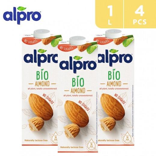 Alpro Bio Almond Unsweetened 4 x 1 L